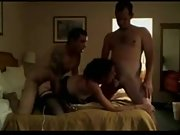 Sizzling wife boinks her spouse and his friend in a threesome
