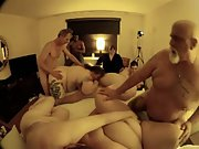 Fat plump mature gangbang older swingers showing they still do it